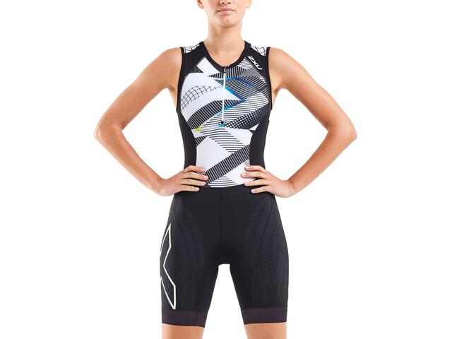 2XU Compression Strój triathlonowy Kobiety, czarny/biały